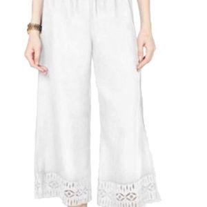 Michael Kors Linen Capri Pant White Size Small